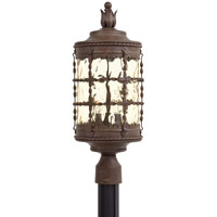 The Great Outdoors by Minka Mallorca 3 Light Post Light in Vintage Rust Powder Coat 8885-A61