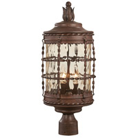Mallorca 3 Light 23 inch Vintage Rust Outdoor Post Lantern