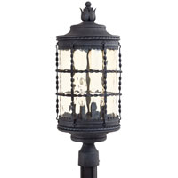 The Great Outdoors by Minka Mallorca 4 Light Post Light in Spanish Iron Textured Black Powder Coat 8886-A39