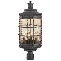 Mallorca 4 Light 26 inch Spanish Iron Outdoor Post Mount Lantern