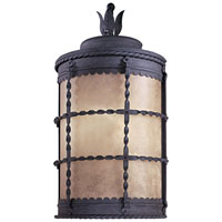 The Great Outdoors by Minka Mallorca 1 Light Outdoor Pocket Lantern in Spanish Iron Textured Black Powder Coat 8887-A39-PL