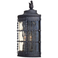 The Great Outdoors by Minka Mallorca 2 Light Outdoor Pocket Lantern in Spanish Iron Textured Black Powder Coat 8887-A39