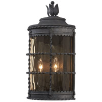 Mallorca 2 Light 20 inch Spanish Iron Outdoor Pocket Lantern