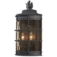 Minka-Lavery 8887-A39 Mallorca 2 Light 20 inch Spanish Iron Outdoor Pocket Lantern The Great Outdoors