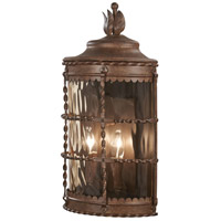 Minka-Lavery 8887-A61 Mallorca 2 Light 20 inch Vintage Rust Outdoor Pocket Lantern The Great Outdoors