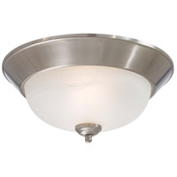 Minka-Lavery Signature 2 Light Flushmount in Brushed Nickel 892-84-PL