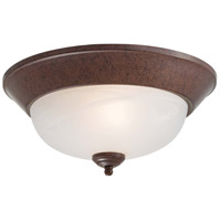 Signature 2 Light 13 inch Antique Bronze Flushmount Ceiling Light in GU24