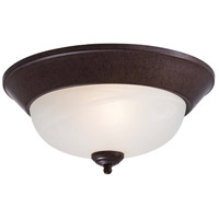 Signature 2 Light 13 inch Antique Bronze Flush Mount Ceiling Light