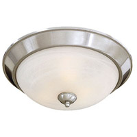 Minka-Lavery Paradox 3 Light Flushmount in Brushed Nickel 893-84-PL
