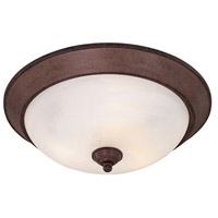 Minka-Lavery 893-91-PL Signature 3 Light 15 inch Antique Bronze Flush Mount Ceiling Light