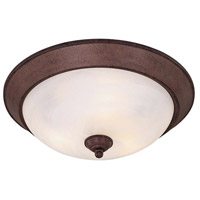 Signature 3 Light 16 inch Antique Bronze Flush Mount Ceiling Light