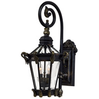 Stratford Hall 2 Light 25 inch Heritage/Gold Outdoor Wall Mount Lantern