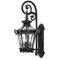 Stratford Hall 4 Light 34 inch Heritage/Gold Outdoor Wall Mount Lantern