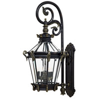 Stratford Hall 5 Light 40 inch Heritage/Gold Outdoor Wall Mount Lantern