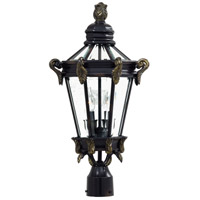 Stratford Hall 2 Light 24 inch Heritage w/Gold Highlights Post Light