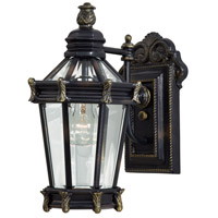 Stratford Hall 1 Light 15 inch Heritage/Gold Outdoor Wall Mount Lantern