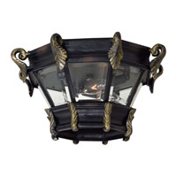 The Great Outdoors by Minka Stratford Hall 3 Light Flushmount in Heritage w/Gold Highlights 8939-95