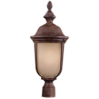 Ardmore 1 Light 24 inch Vintage Rust Post Mount in Double French Scavo, GU24