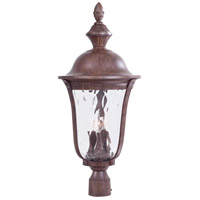 Ardmore 3 Light 29 inch Vintage Rust Outdoor Post Mount Lantern