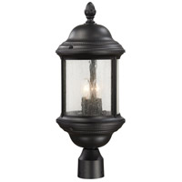 The Great Outdoors by Minka Hancock 3 Light Post Light in Black 9016-66