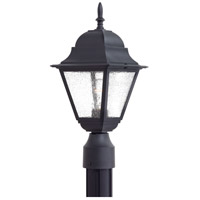 Minka-Lavery 9066-66 Bay Hill 1 Light 17 inch Black Outdoor Post Mount Lantern The Great Outdoors