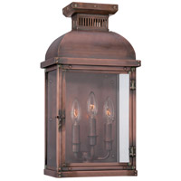 Copperton 3 Light 19 inch Manhattan Copper Outdoor Pocket Lantern