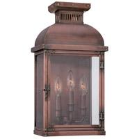 Minka-Lavery 9073-264 Copperton 3 Light 19 inch Manhattan Copper Outdoor Pocket Lantern
