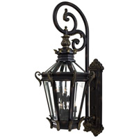 Stratford Hall 9 Light 63 inch Heritage/Gold Outdoor Wall Mount Lantern