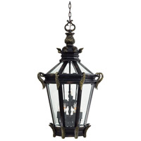 Stratford Hall 9 Light 25 inch Heritage/Gold Outdoor Chain Hung Lantern