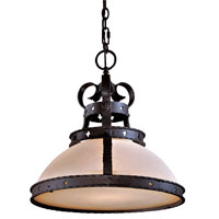 Minka-Lavery Mission Inn 1 Light Pendant in Antique Iron 910-08