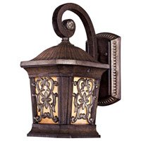 Minka-Lavery Jessica McClintock Outdoor 1 Light Outdoor Wall in Ravello Bronze w/Gold Highlights 9110-198B-PL