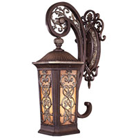 Minka-Lavery Jessica McClintock Outdoor 1 Light Outdoor Wall in Ravello Bronze w/Gold Highlights 9111-198B-PL