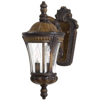 Kent Place 2 Light 16 inch Prussian Gold Outdoor Wall in Incandescent
