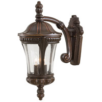 The Great Outdoors by Minka Kent Place 3 Light Wall Bracket in Architectural Bronze w/Copper Highlights 9142-291