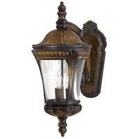 Kent Place 3 Light 24 inch Prussian Gold Outdoor Wall in Incandescent