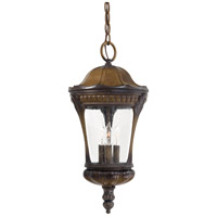 Kent Place 3 Light 10 inch Prussian Gold Outdoor Hanging