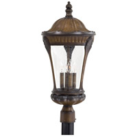 The Great Outdoors by Minka Kent Place 4 Light Post Light in Prussian Gold 9145-407