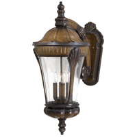 Kent Place 4 Light 28 inch Prussian Gold Outdoor Wall Mount Lantern