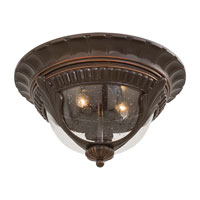The Great Outdoors by Minka Kent Place 2 Light Flushmount in Architectural Bronze w/Copper Highlights 9149-291