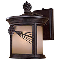 Abbey Lane 1 Light 13 inch Iron Oxide Outdoor Wall Lamp in GU24