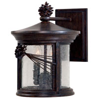 The Great Outdoors by Minka Abbey Lane 2 Light Wall Mount in Iron Oxide Finish w/Mouth Blown Seeded Glass 9152-357