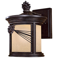 Minka-Lavery 9152-A357-PL Abbey Lane 1 Light 13 inch Iron Oxide Outdoor Wall Mount in GU24