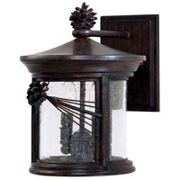 Abbey Lane 2 Light 12 inch Iron Oxide Outdoor Wall Mount Lantern