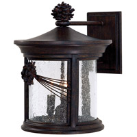 Abbey Lane 3 Light 14 inch Iron Oxide Outdoor Wall Mount Lantern