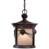 Minka-Lavery 9154-A357-PL Abbey Lane 1 Light 11 inch Iron Oxide Outdoor Chain Hung Lantern