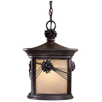 Minka-Lavery 9154-A357-PL Abbey Lane 1 Light 11 inch Iron Oxide Outdoor Pendant in GU24 The Great Outdoors