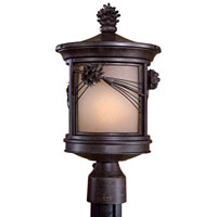 The Great Outdoors by Minka Abbey Lane 1 Light Post Light in Iron Oxide 9156-A357-PL