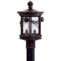 The Great Outdoors by Minka Abbey Lane 2 Light Post Light in Iron Oxide 9156-A357