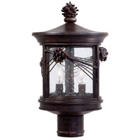 Abbey Lane 2 Light 16 inch Iron Oxide Outdoor Post Mount Lantern