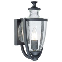 The Great Outdoors by Minka Park Terrace 1 Light Outdoor Wall Lantern in Black 9161-66